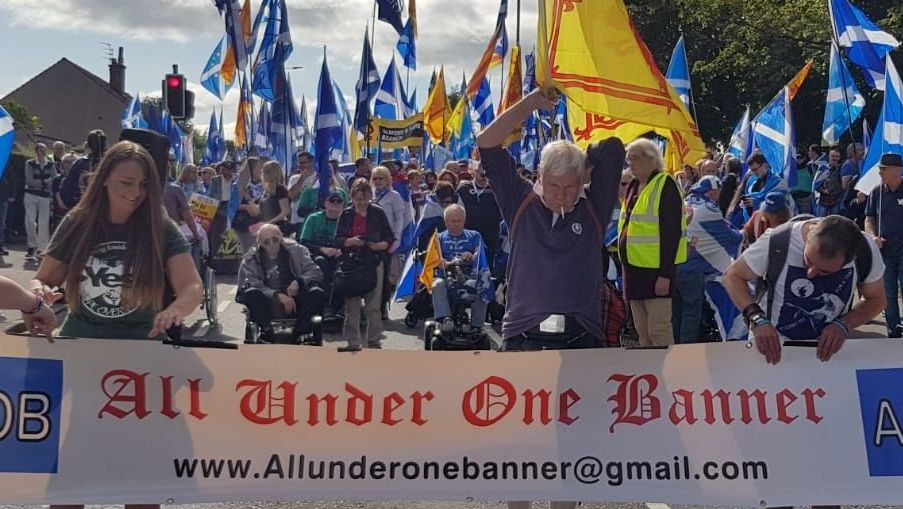 All Under One Banner represent a collection of a Scottish independence groups who have organized marches in Aye, Aberdeen and Perth