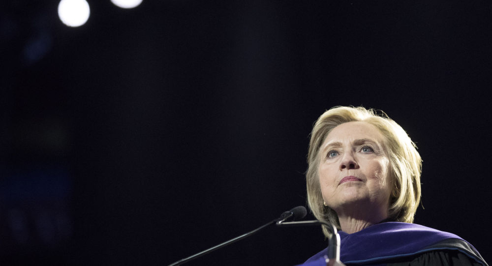 Former Secretary of State Hillary Clinton delivers Hunter College's commencement address, Wednesday, May 29, 2019, in New York.