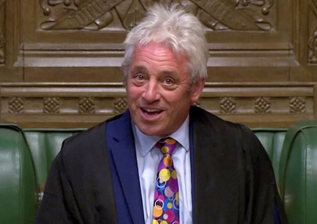 Speaker of the House of Commons John Bercow speaks in Parliament in London, Britain, September 9, 2019, in this still image taken from Parliament TV footage