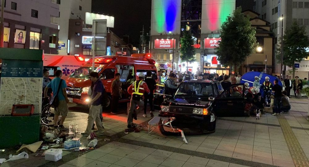 Car accident in Japan