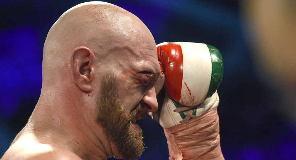 Tyson Fury during his heavyweight bout against Otto Wallin at T-Mobile Arena on September 14, 2019 in Las Vegas, Nevada.
