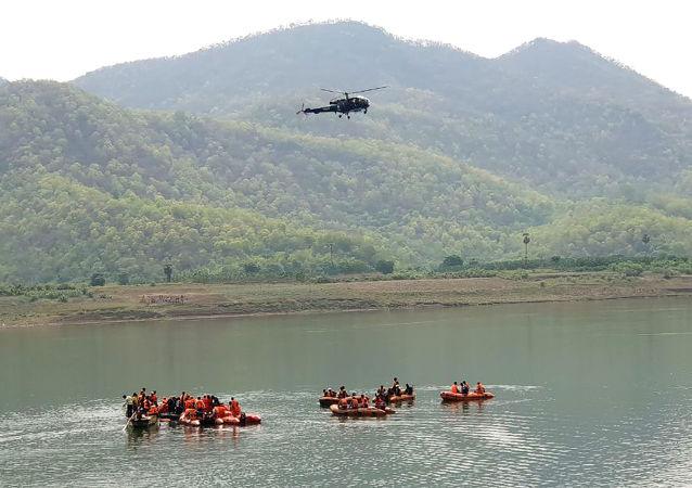 Rescue operation at Godavari river in India