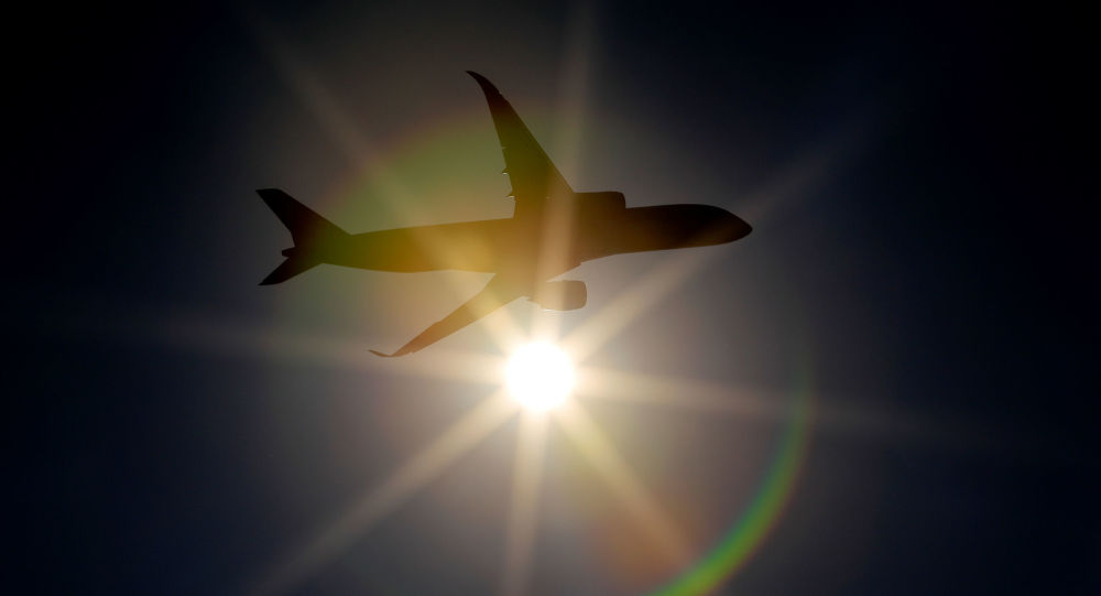 An Airbus A350 jet airliner is seen through sunlight during a demonstration flight at the MAKS-2019 air show in Zhukovsky outside Moscow, Russia August 29, 2019. REUTERS/Tatyana Makeyeva