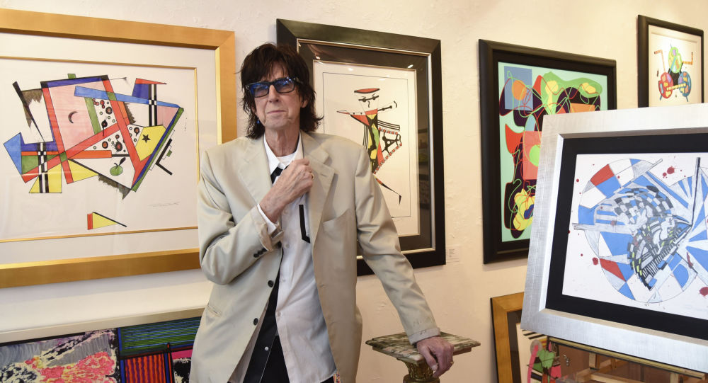Rick Ocasek attends a media event prior to his art show 'Abstract Reality' at Wentworth Gallery
