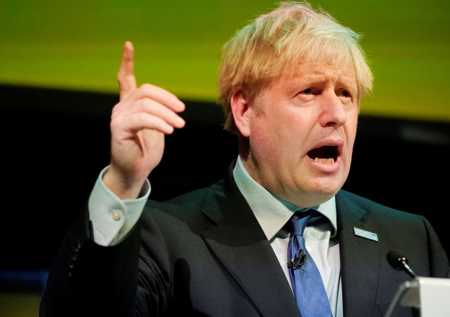 Britain's Prime Minister Boris Johnson speaks during the Convention of the North at the Magna Centre in Rotherham, Britain September 13, 2019