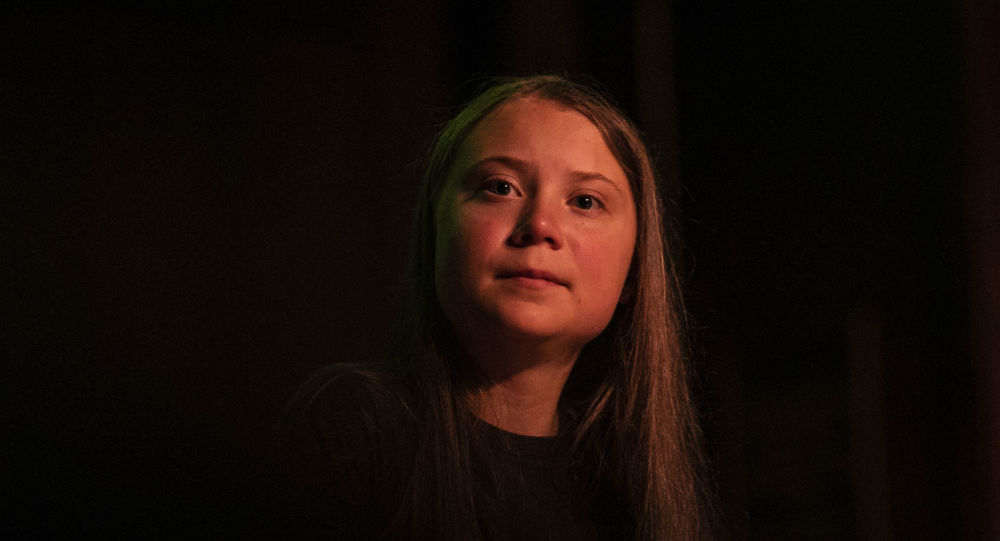 Greta Thunberg pauses as she speaks at the Society for Ethical Culture, Monday, Sept. 9, 2019 in New York