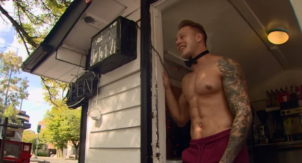 All-male shirtless barista opens up in Washington State