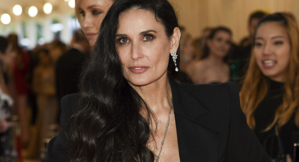 Demi Moore attends The Metropolitan Museum of Art's Costume Institute benefit gala celebrating the opening of the Camp: Notes on Fashion exhibition on Monday, May 6, 2019, in New York
