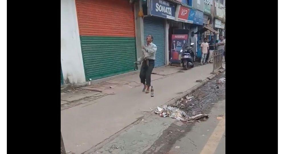 Indian street performer