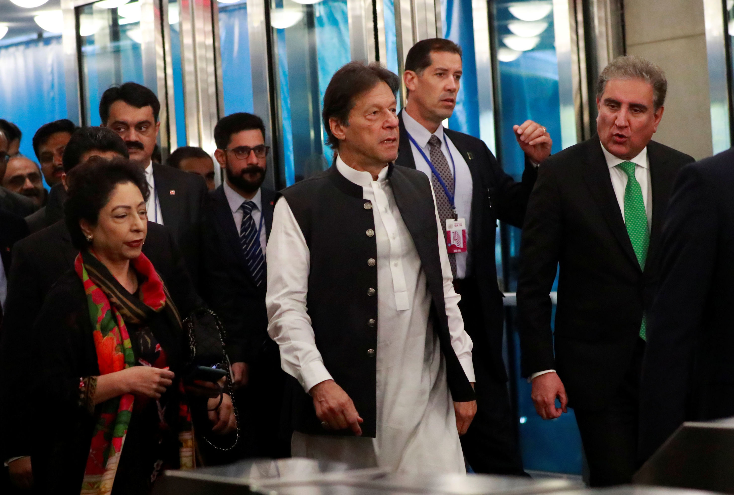 Pakistan's Prime Minister Imran Khan arrives ahead of the start of the 74th session of the United Nations General Assembly at U.N. headquarters in New York City New York U.S