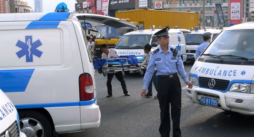 Chinese ambulance, archive photo