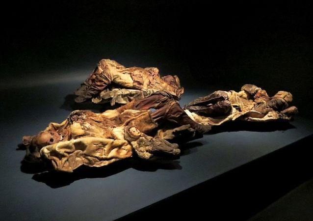 The mummified remains of four tattooed Qilakitsoq women and a six month old boy dating from 1475 AD are at the Greenland National Museum in Nuuk