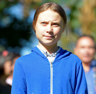 Climate change teen activist Greta Thunberg looks on before joining a climate strike march in Montreal, Quebec, Canada September 27, 2019