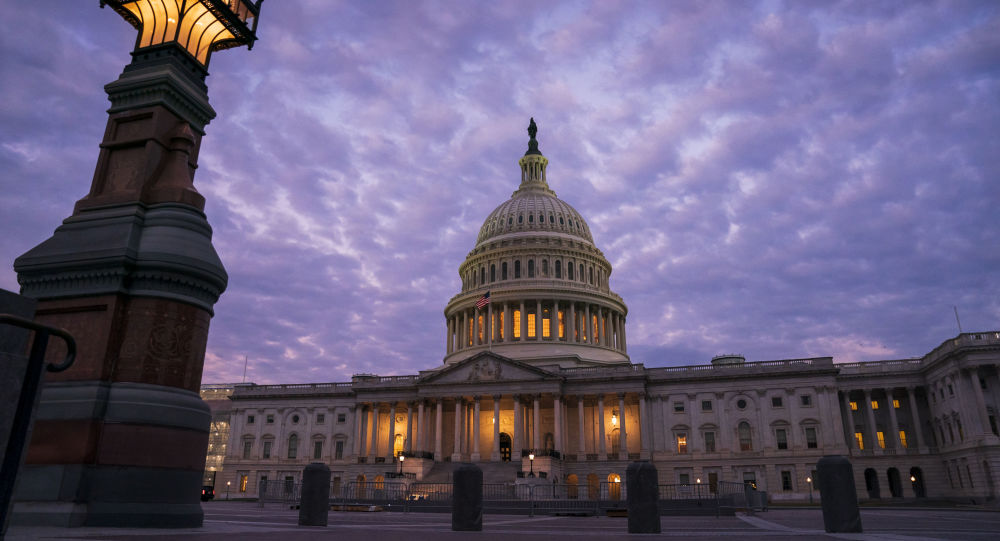 The Capitol in Washington is seen at dawn, 3 October 2019. House Democrats are moving quickly on the impeachment probe of President Donald Trump after a whistleblower exposed a July phone call the president had with Ukrainian President Volodymyr Zelenskiy in which Trump pressed for an investigation of political rival Joe Biden and his family.