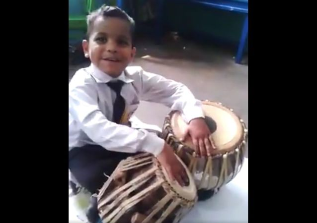 See how this little boy plays folk tunes of four provinces of Pakistan on a tabla