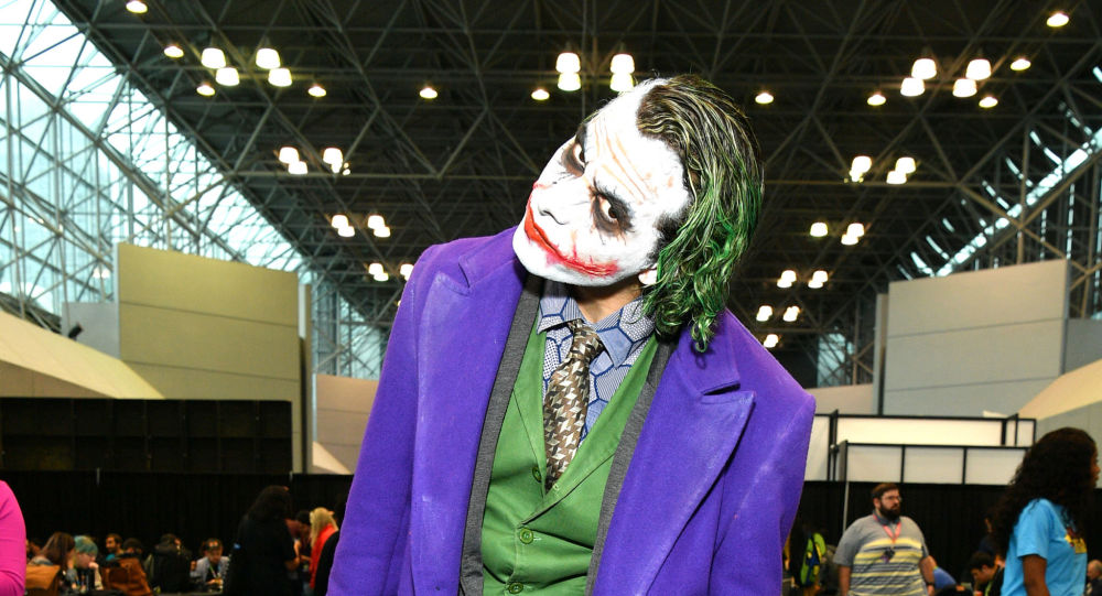 A cosplayer dressed as The Joker attends the New York Comic Con at Jacob K. Javits Convention Center on October 03, 2019 in New York City