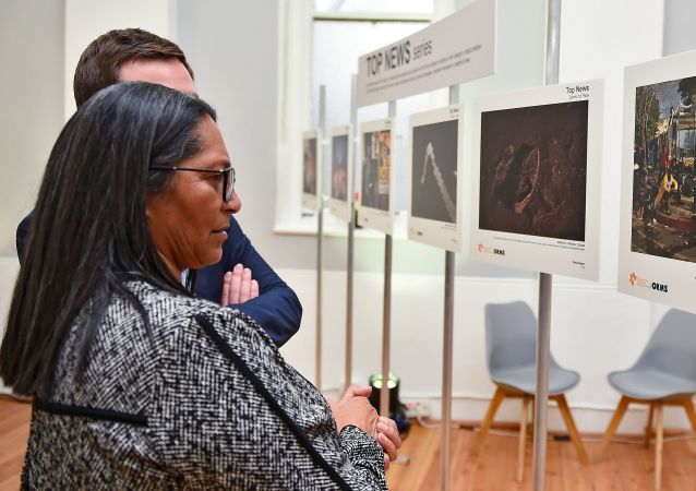 The exhibition of the Andrei Stenin Photo Contest winners in South Africa's Cape Town