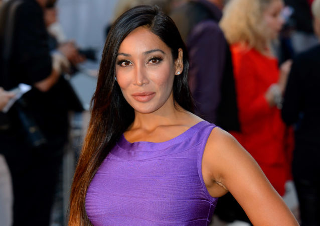 Sofia Hayat arrives for the Downton Abbey Charity Screening at a central London cinema, London, Wednesday, Sept. 17, 2014