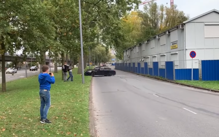 Mercedes AMG Smashes Into Tree After Dutch Car Show