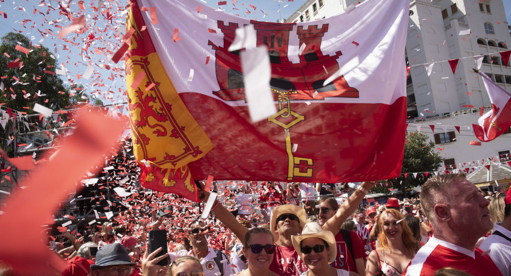 People gather during National Day celebrations in the British territory of Gibraltar on Tuesday Sept. 10, 2019. Gibraltar is still waiting to see how Britain's future departure from the European Union could affect Gibraltar. In the 2016 Brexit referendum vote, 96 percent of Gibraltarians voted for Britain to remain in the EU
