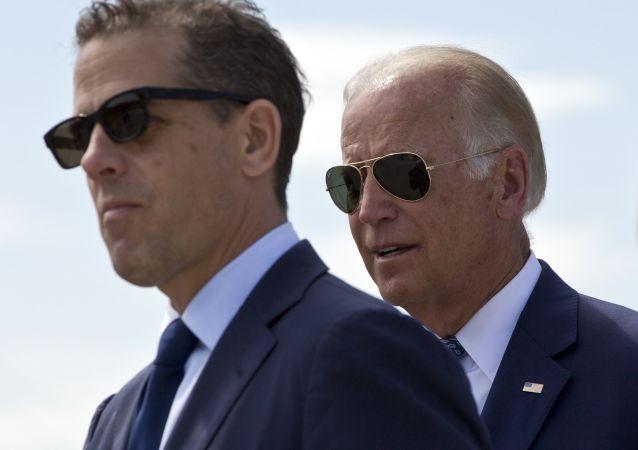 US Vice President Joe Biden and his son Hunter Biden (File)