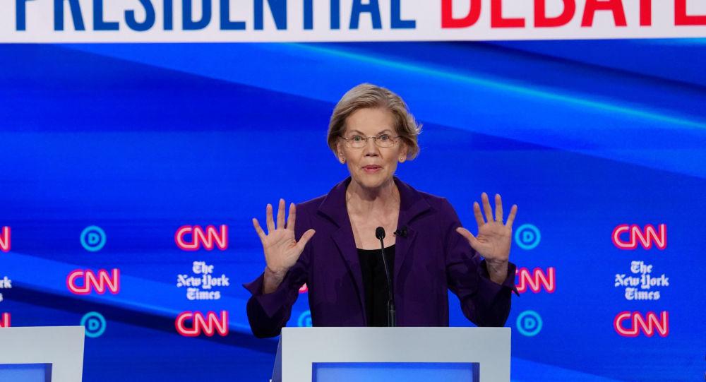 Democratic presidential candidate Senator Elizabeth Warren speaks during the fourth U.S. Democratic presidential candidates 2020 election debate at Otterbein University in Westerville, Ohio U.S., October 15, 2019