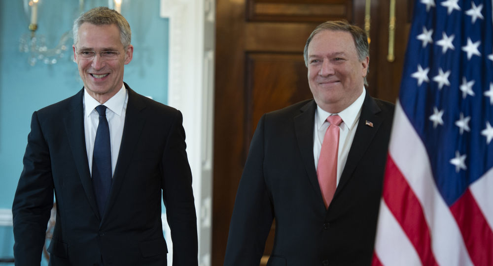 US Secretary of State Mike Pompeo meets with NATO Secretary General Jens Stoltenberg