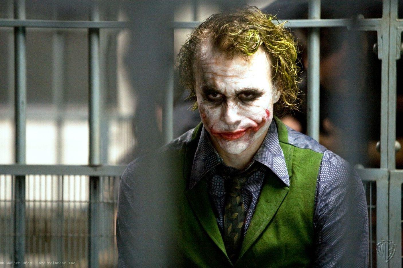 Actor Heath Ledger as Joker