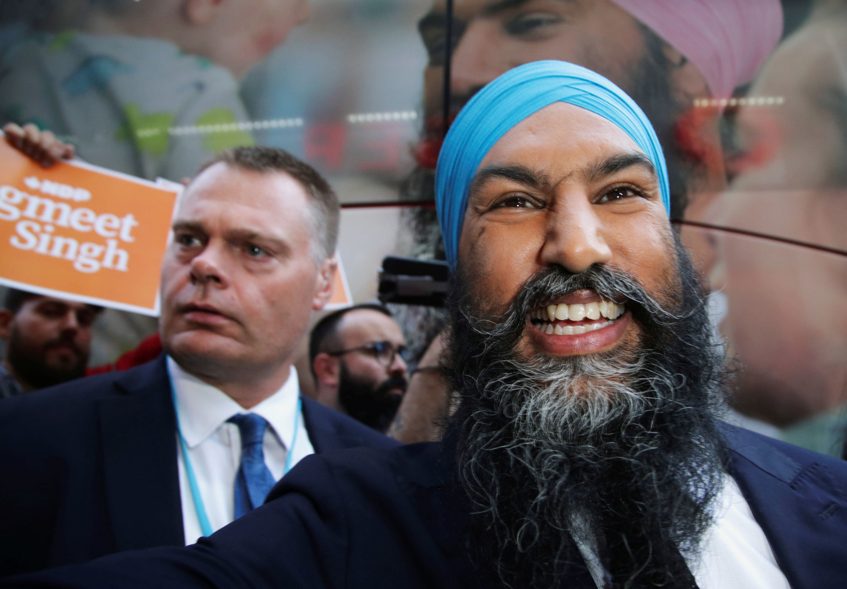 New Democratic Party (NDP) leader Jagmeet Singh arrives for a debate hosted by Macleans news magazine, which will not be attended by Prime Minister Justin Trudeau, in Toronto, Ontario, Canada September 12, 2019