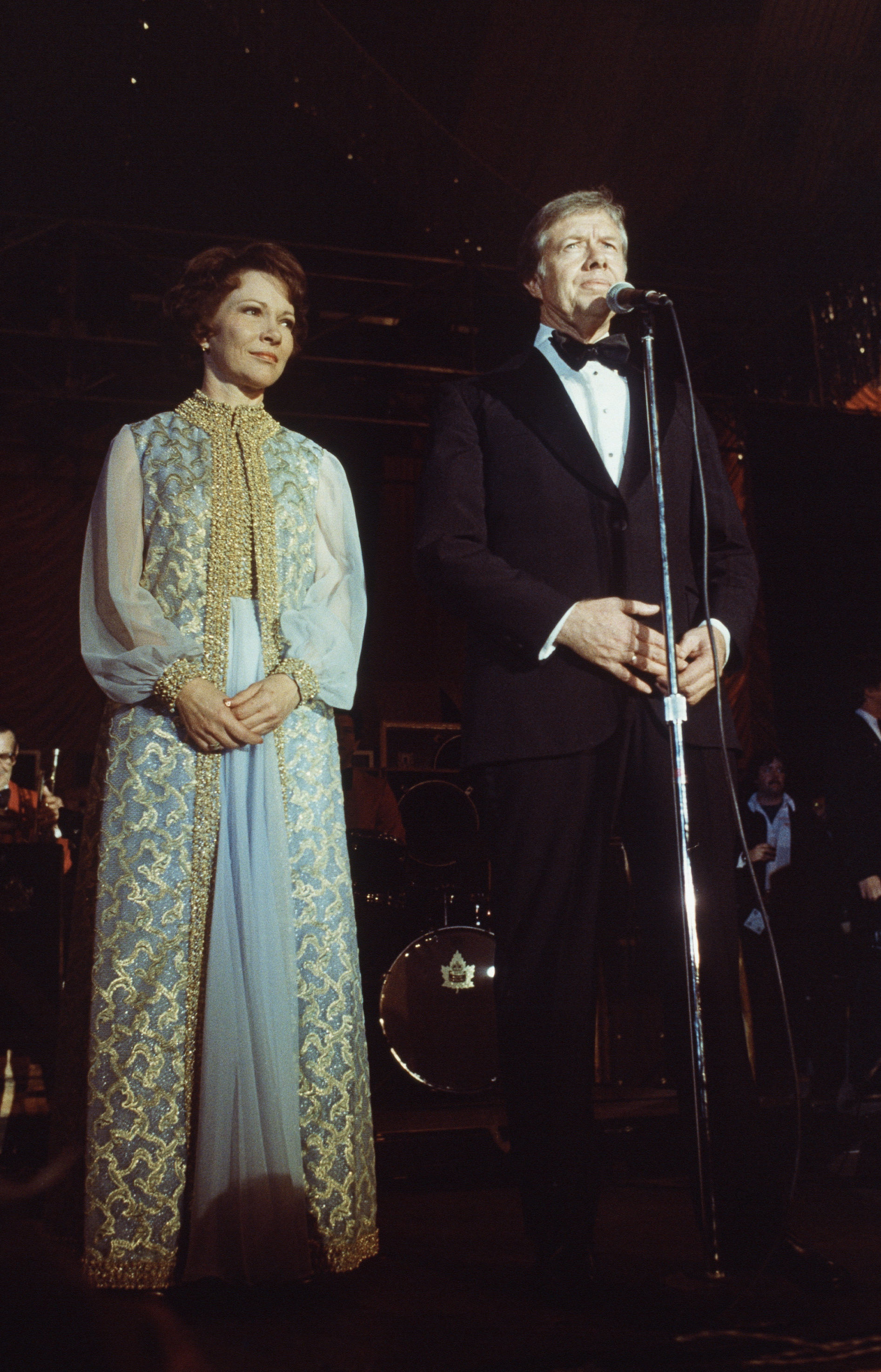 President Jimmy Carter and Mrs. Carter in the blue room of the White House in Washington, following his inauguration, Jan. 21, 1977
