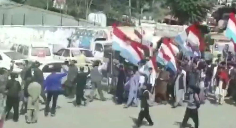 lathicharged protesters in Muzaffarabad (Pakistan Occupied Kashmir) yesterday, during a rally carried out by various political parties under the All Independent Parties Alliance (AIPA)