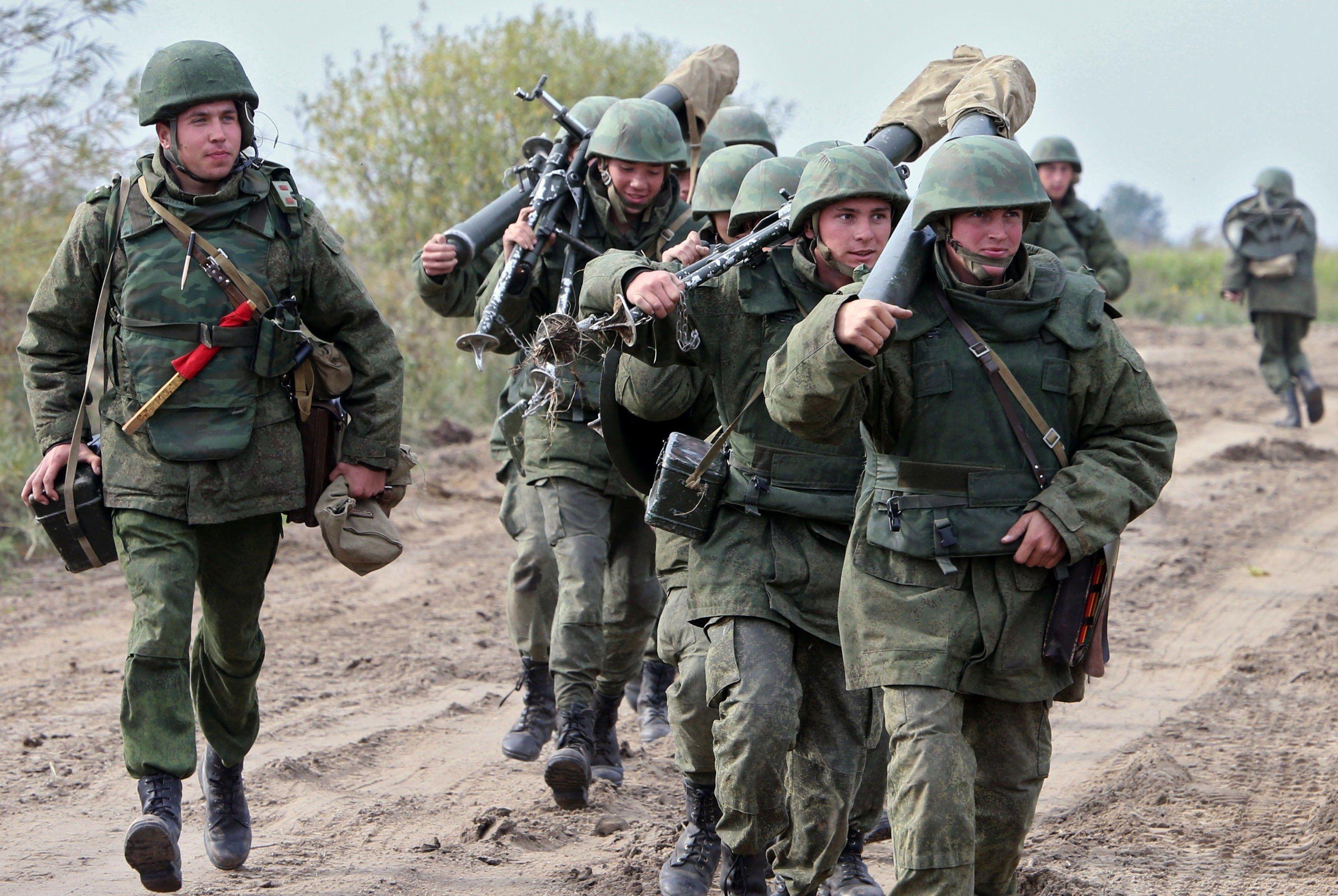 Russian military during drills of the Baltic Fleet in Kaliningrad Region