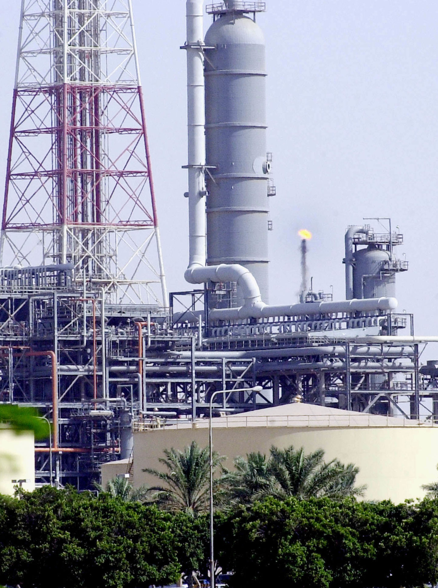A Saudi Aramco Shell oil refinery in Jubail, Saudi Arabia, is seen in this Tuesday, June 1, 2004 file photo