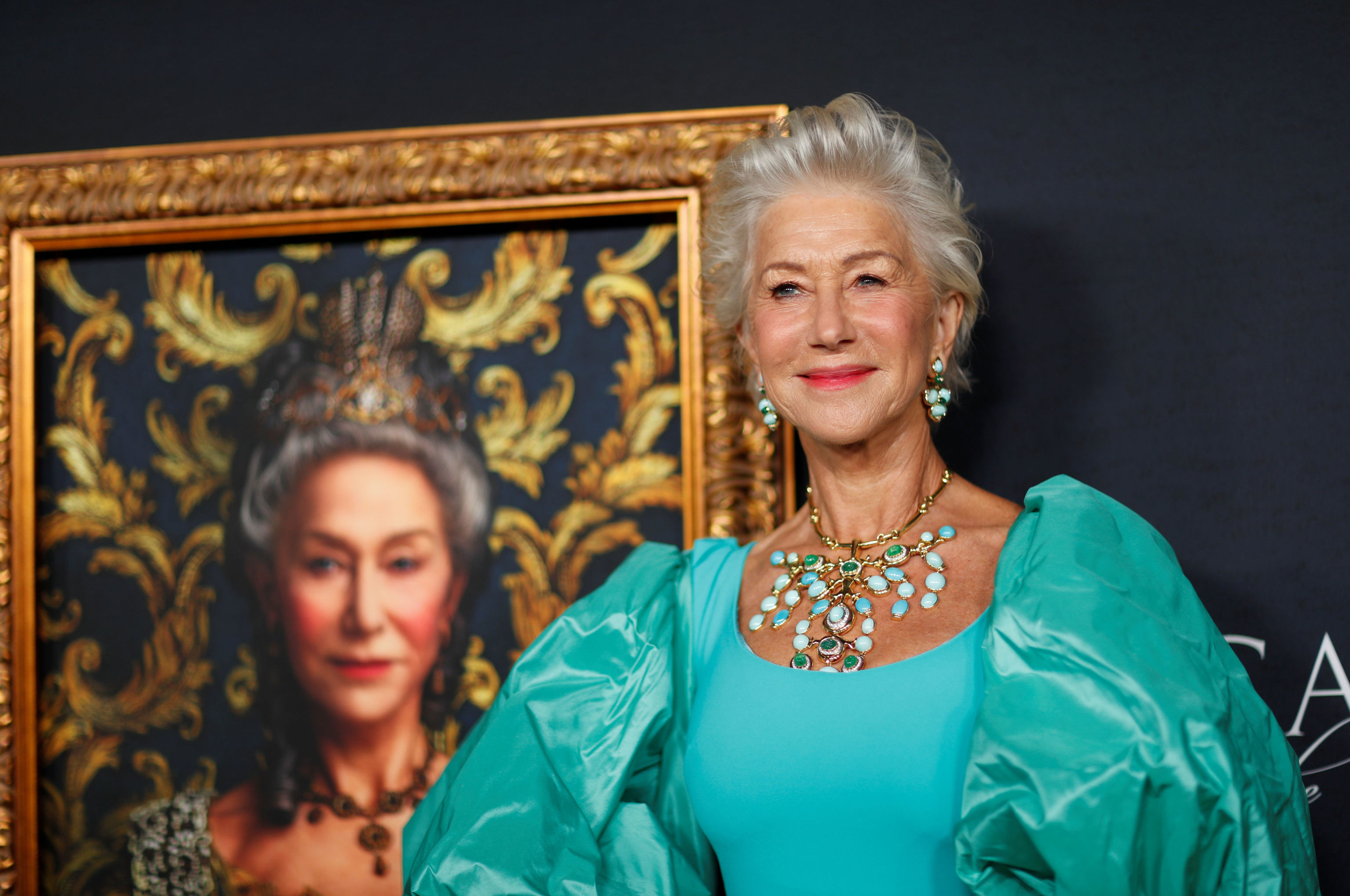 """Cast member Helen Mirren attends a premiere for the HBO miniseries """"Catherine the Great"""" at the Hammer Museum in Los Angeles, California, U.S., October 17, 2019"""