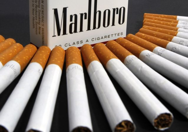 FILE - In this 17 July 2012 file photo, Marlboro cigarettes are displayed in Montpelier, Vermont