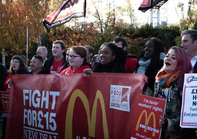 McStrike UK McDonald's Workers on Strike 12 November 2019 - CREDIT War on Want