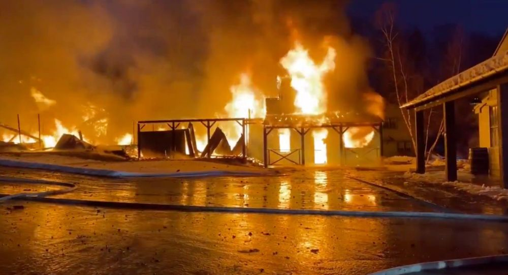 Video: Massive Fire Erupts at 'Hole in the Wall Gang Camp' in Connecticut Founded by Late US Actor