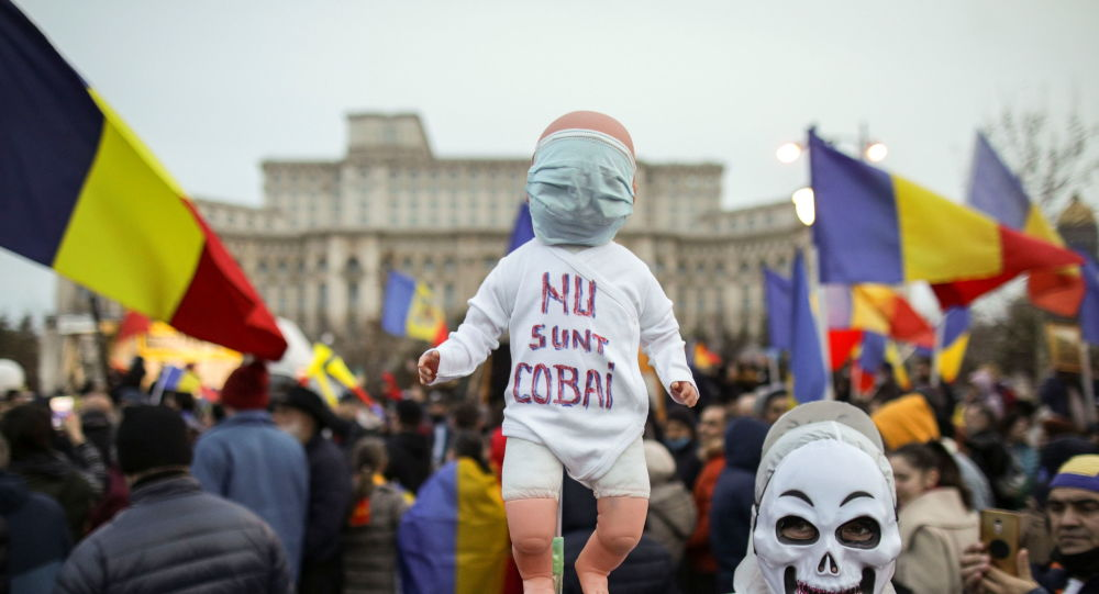 Romanians Protest Against COVID-19 Restrictions, Vaccinations in Bucharest - Digi 24 TV