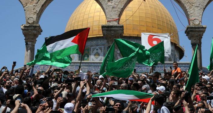 Warga Palestin Memprotes Terhadap Pengusiran Keluarga Dari Sheikh Jarrah di Yerusalem