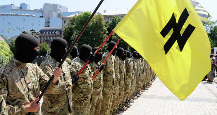 Azov battalion fighters in Kiev
