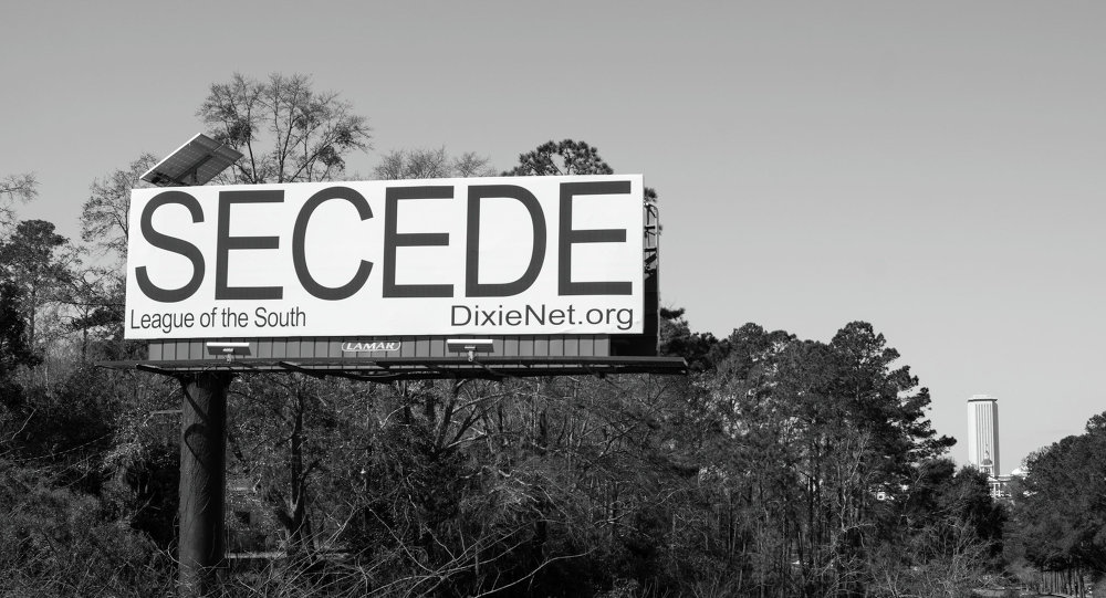 SECEDE Billboard in Tallahassee, Florida, USA. March, 2014.