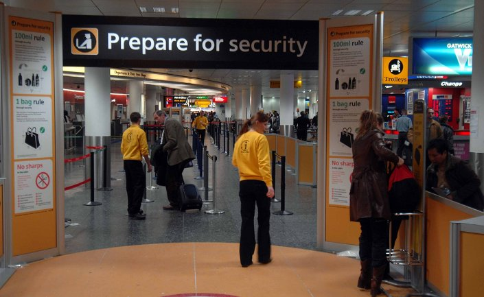 Gatwick Airport, London.
