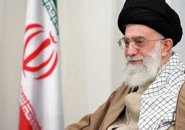 Iran's Supreme Leader Ayatollah Khomenei criticizes the U.S. on Twitter.