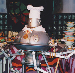 The robot chef from the Easy Living scene in Horizons at EPCOT Center
