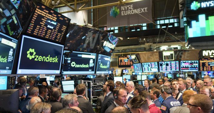 Trading floor of the New York Stock Exchange.
