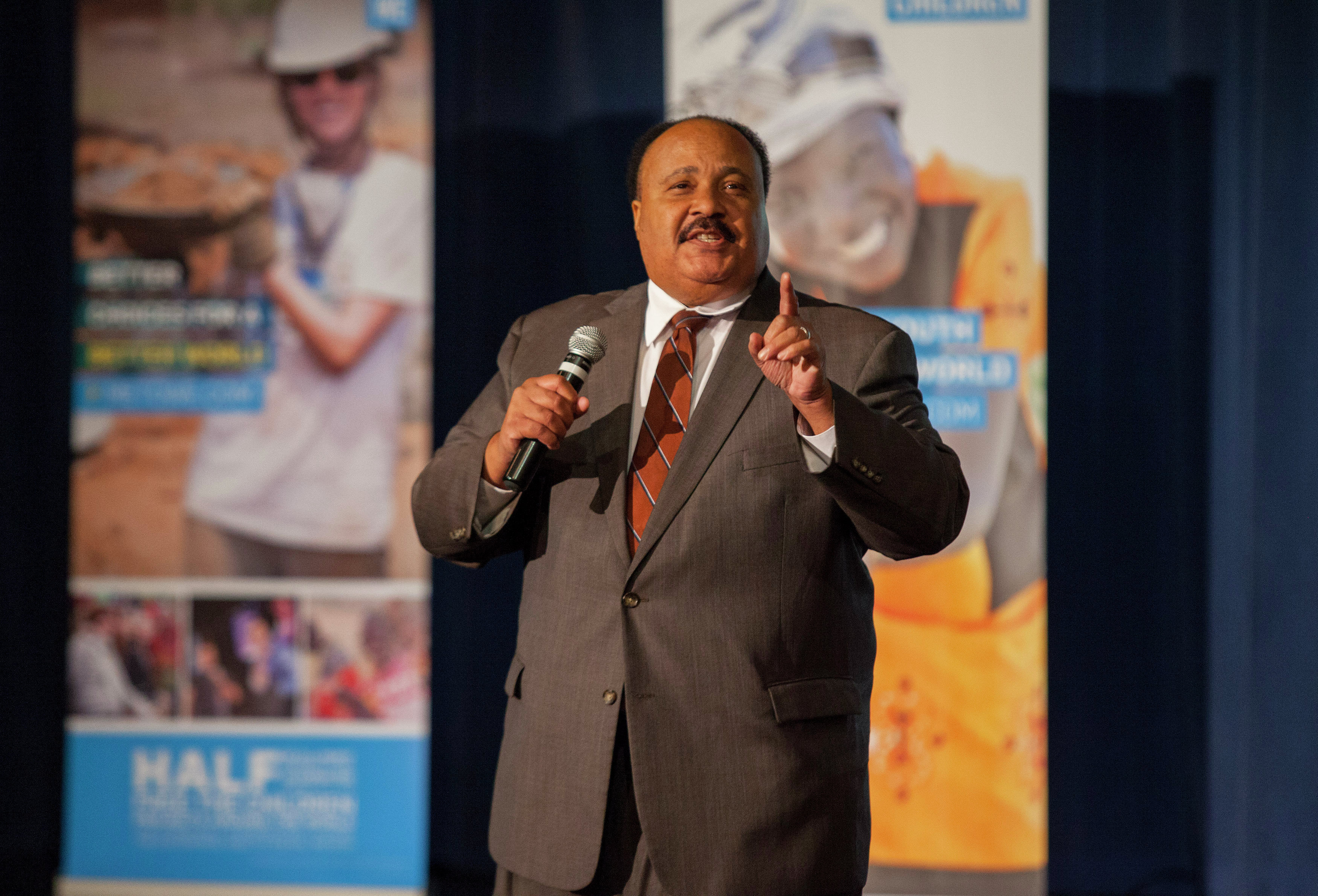 Martin Luther King III, the oldest son, like his father and siblings is a civil rights activist