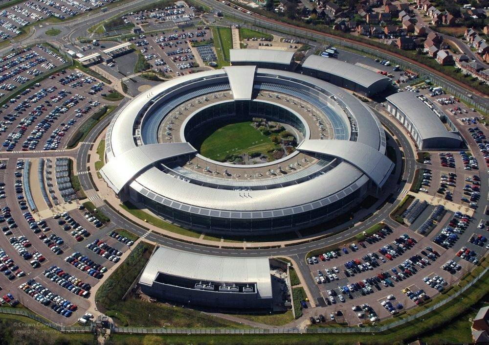 The Dougnut, Government Communications Headquarters in Cheltenham, England.