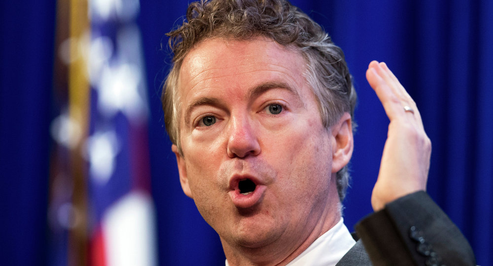 US Republican Presidential candidate and Senator Rand Paul