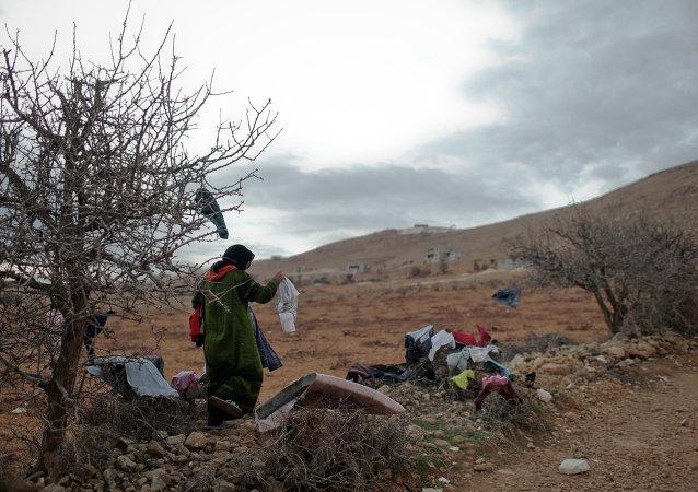 Сирийские беженцы в долине Бекаа в Ливане