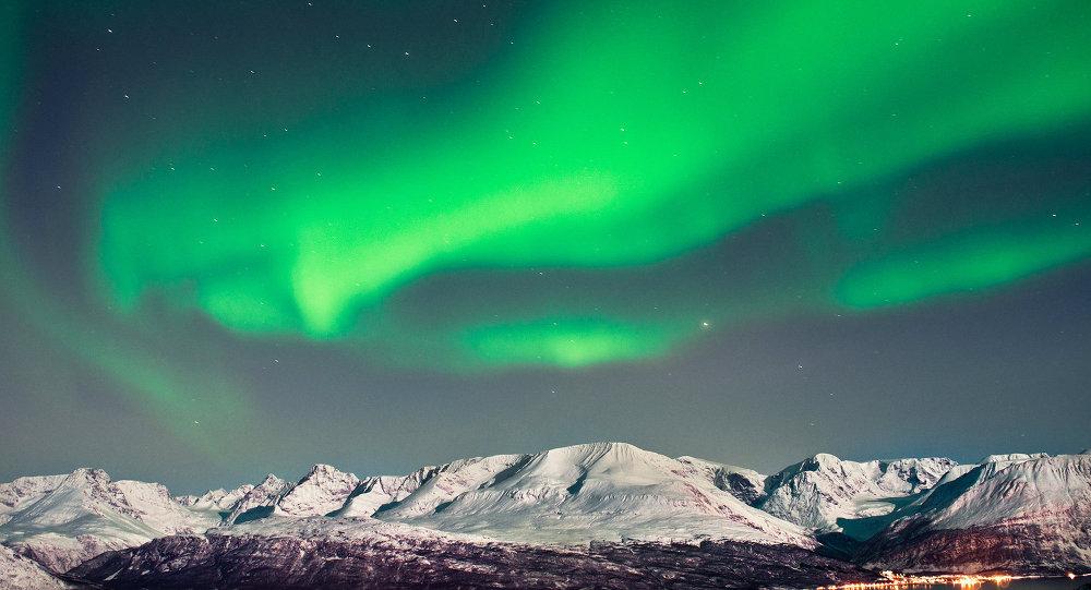 Северное сияние в Арктике